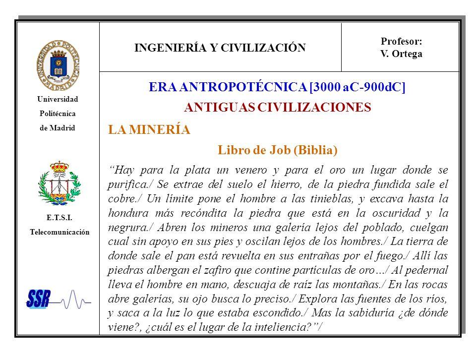 ERA ANTROPOTÉCNICA [3000 aC-900dC] ANTIGUAS CIVILIZACIONES